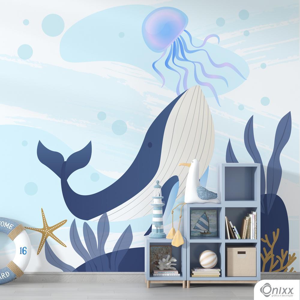 Painel Adesivo Grande Baleia