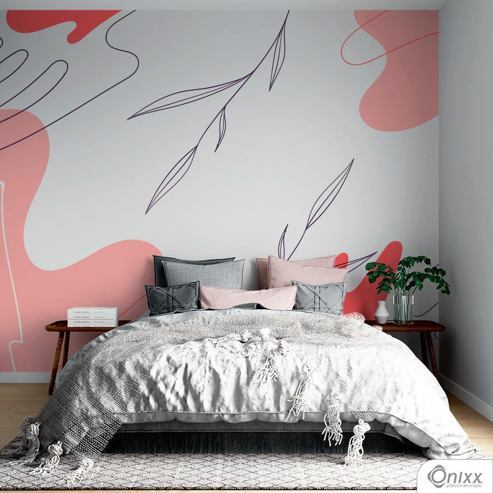 Painel Adesivo Artistic Leaves