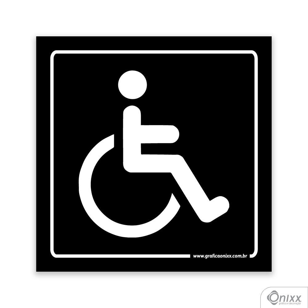 Placa Acesso Para Deficiente Físico PB