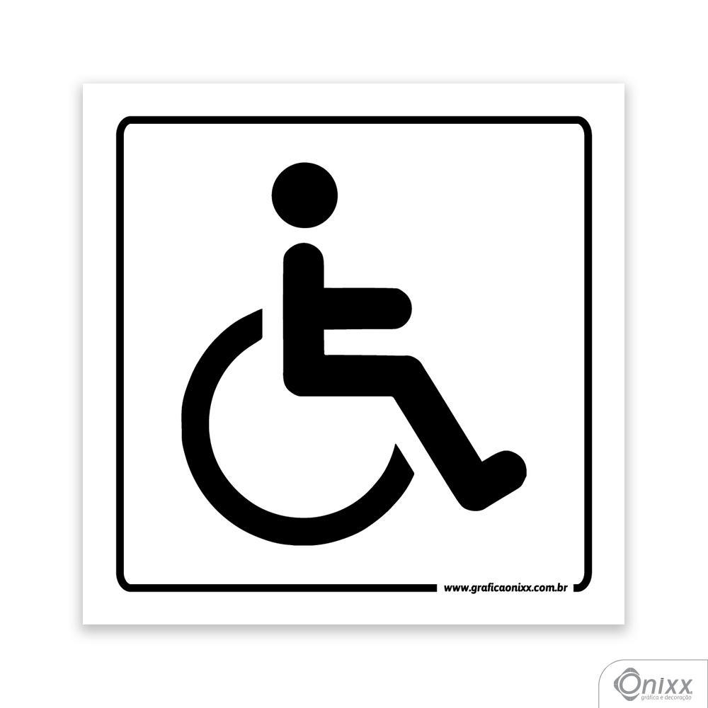 Placa Acesso Para Deficiente Físico