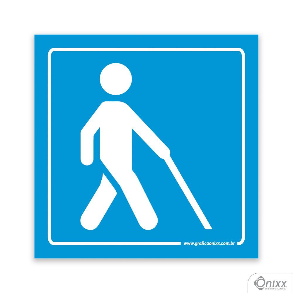 Placa Acesso Para Deficiente Visual Azul