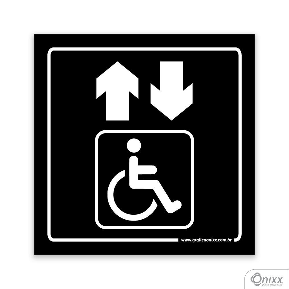 Placa Acesso Para Deficientes ( Elevador ) PB