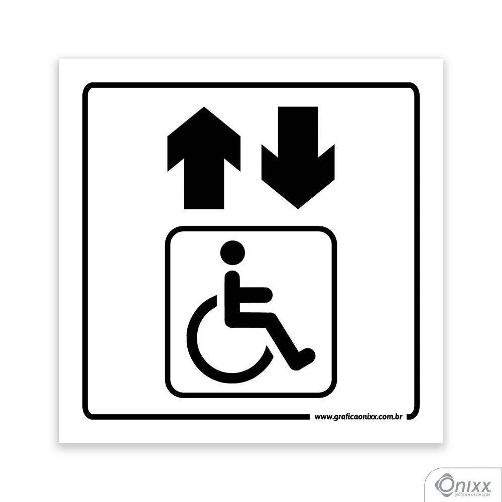 Placa Acesso Para Deficientes ( Elevador )