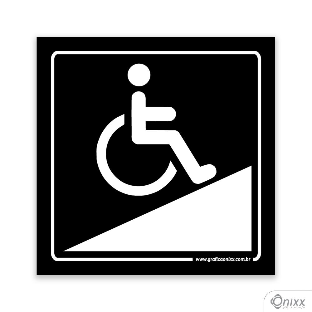 Placa Acesso Para Deficientes ( Rampa ) PB