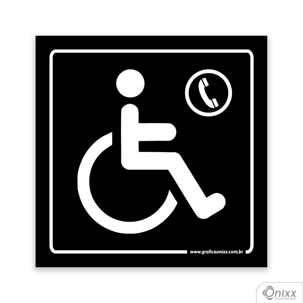Placa Acesso Para Deficientes ( Telefone ) PB