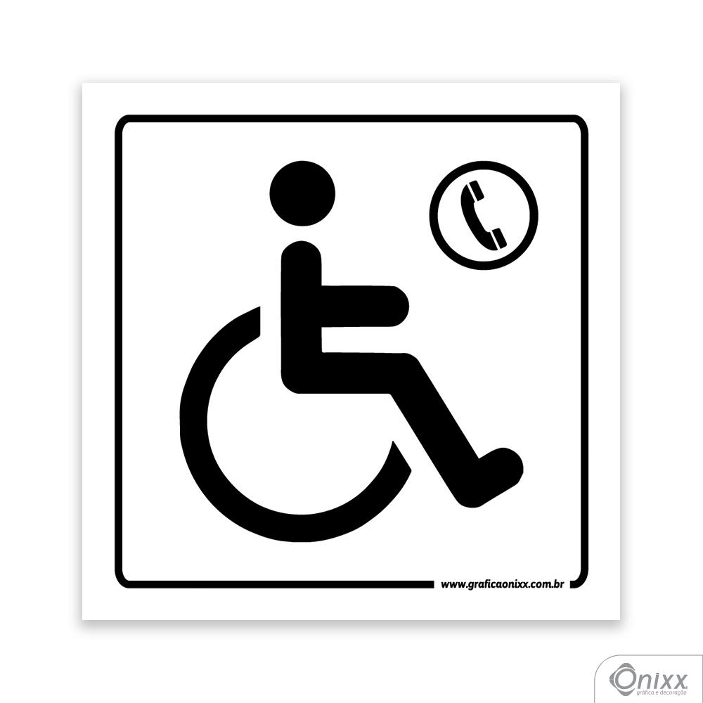 Placa Acesso Para Deficientes ( Telefone )