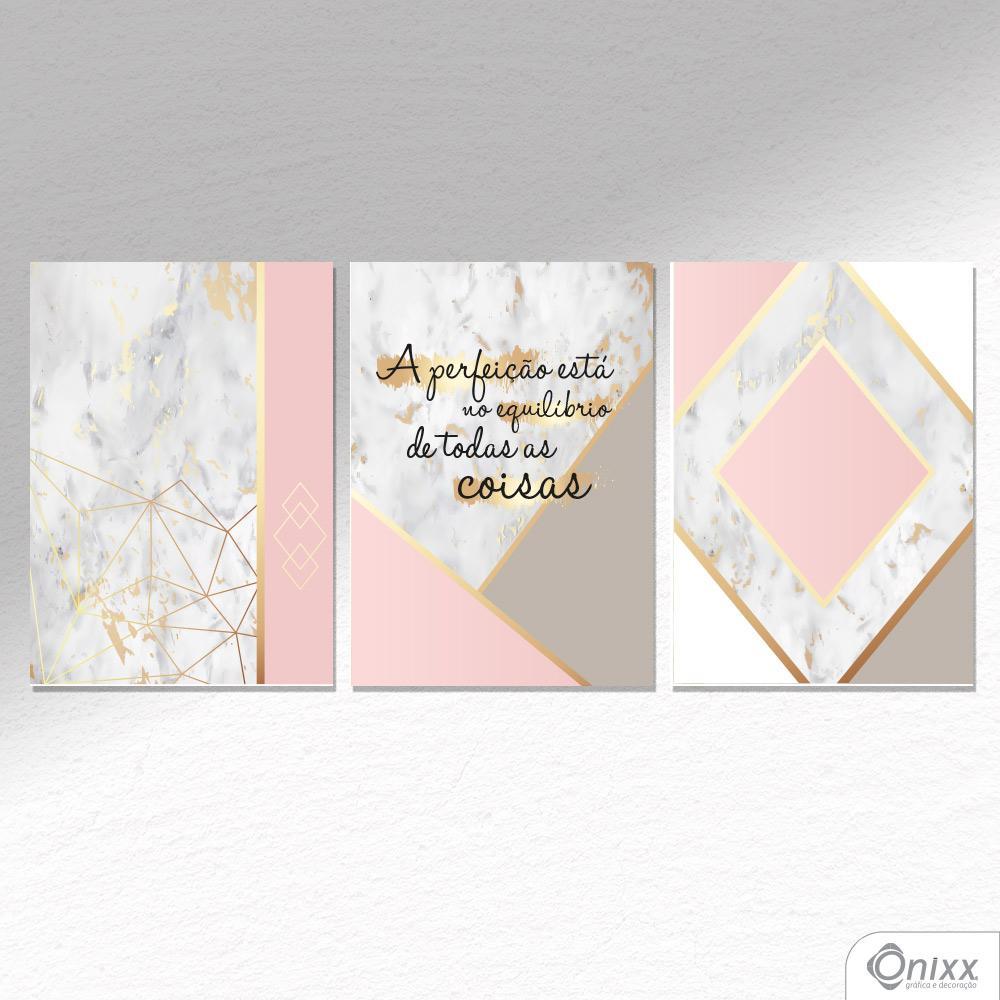 Kit De Placas Decorativas A Perfeição Está No Equilíbrio A4