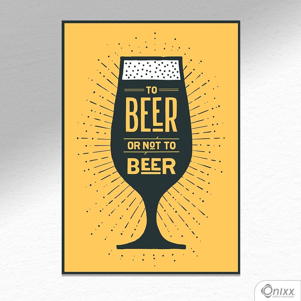 Placa Decorativa Beer Or Not To Beer Black In Yellow A4
