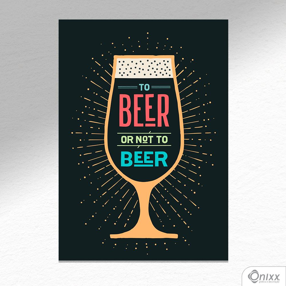 Placa Decorativa Beer Or Not To Beer Color A4