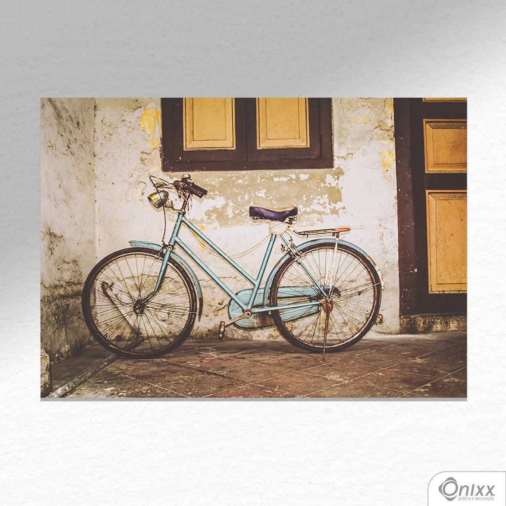 Placa Decorativa Bike Old Wall A4