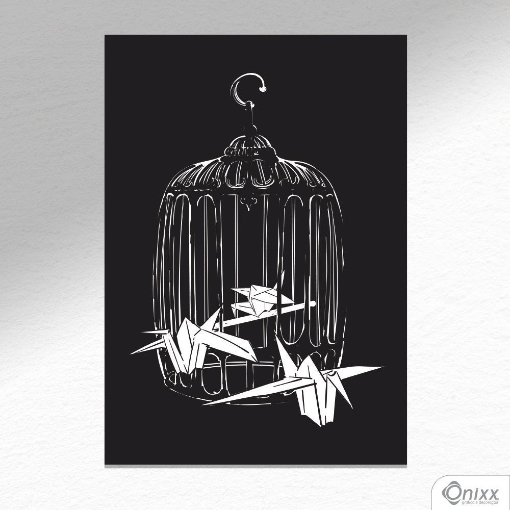 Placa Decorativa Birds Origami A4