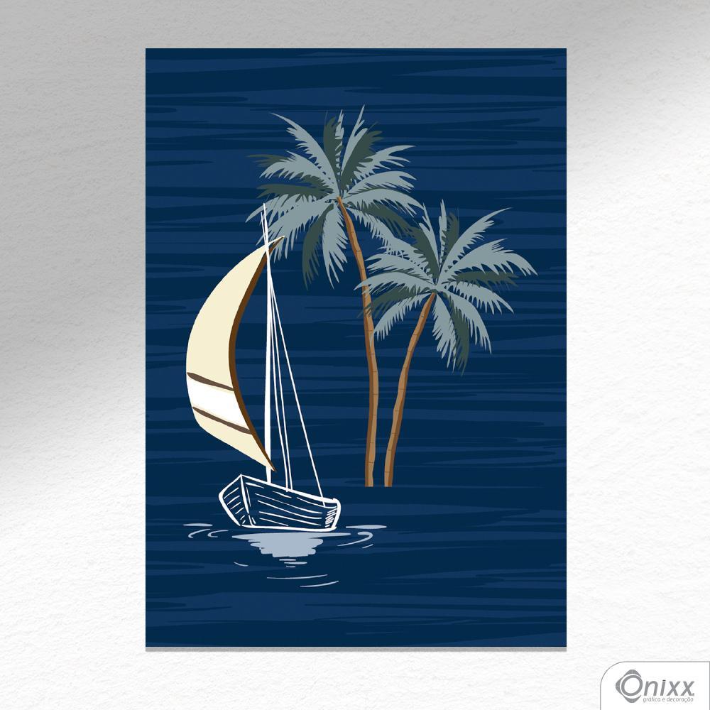Placa Decorativa Boat A4