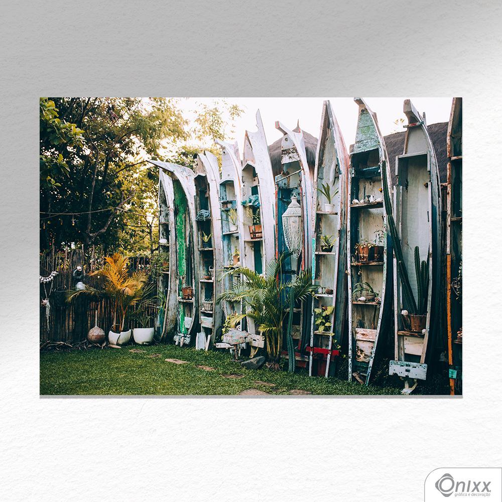 Placa Decorativa Canoas Decoradas A4
