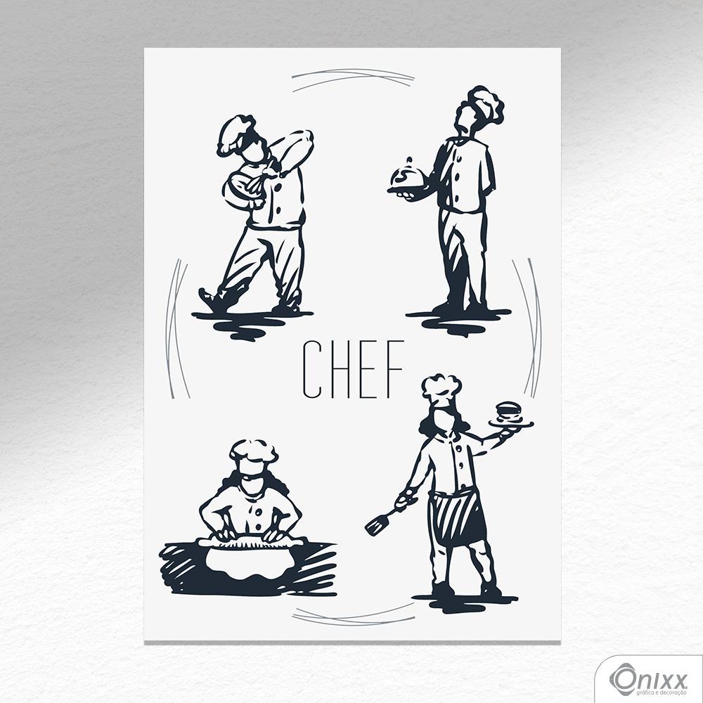 Placa Decorativa Chef A4
