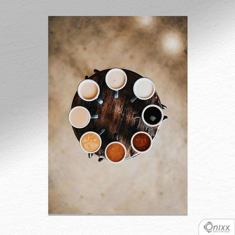 Placa Decorativa Coffee Kinds A4