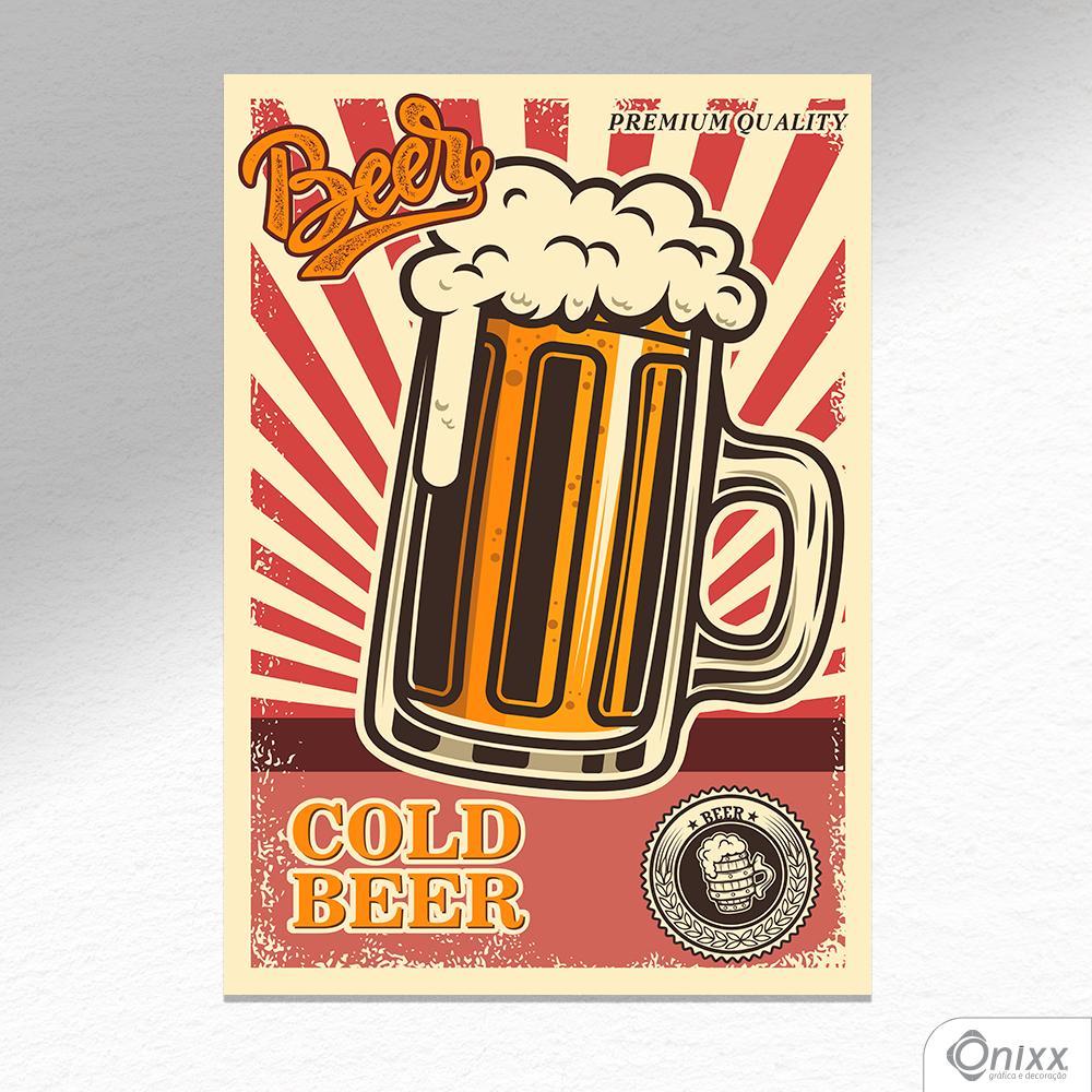 Placa Decorativa Cold Beer A4