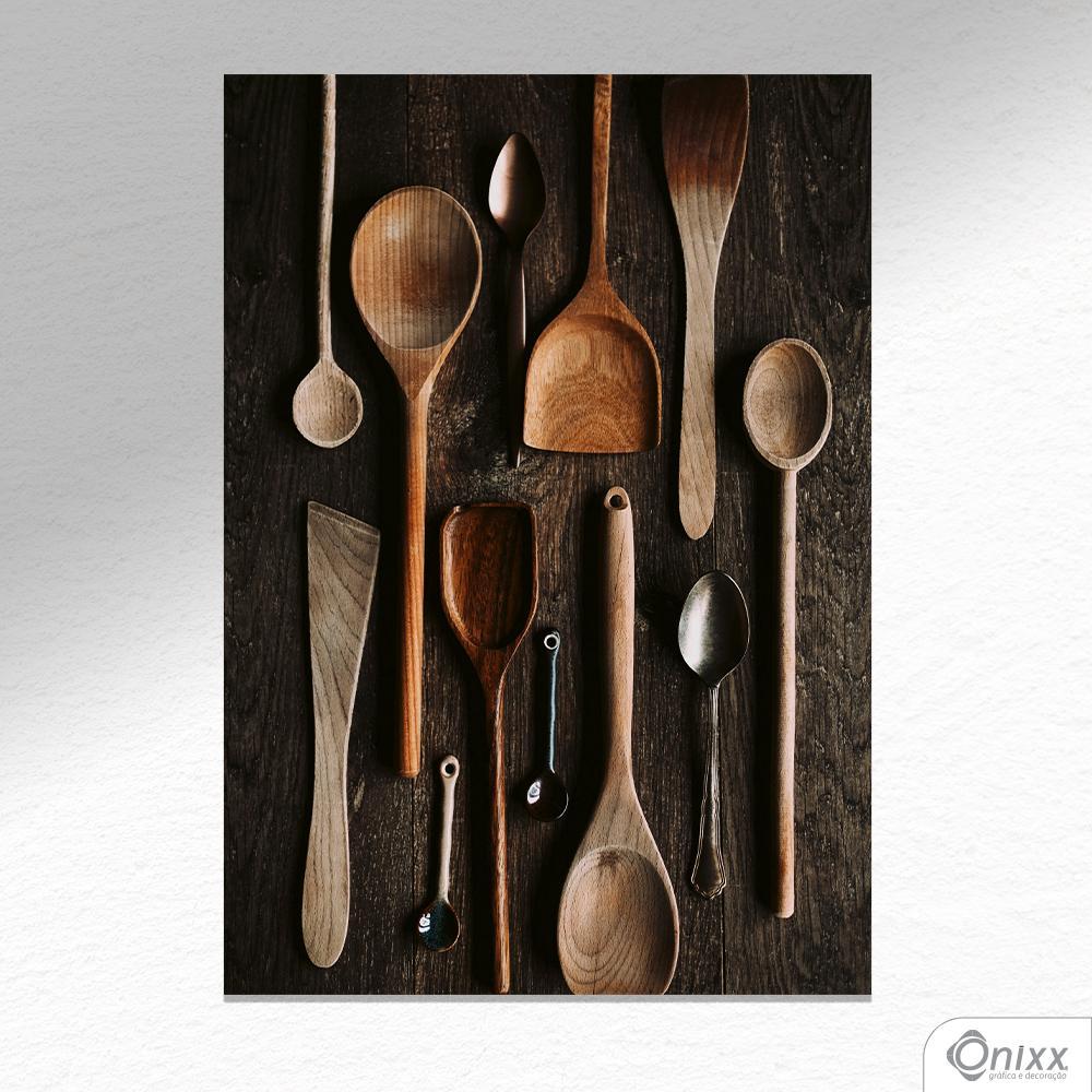 Placa Decorativa Craft Food Utensils A4
