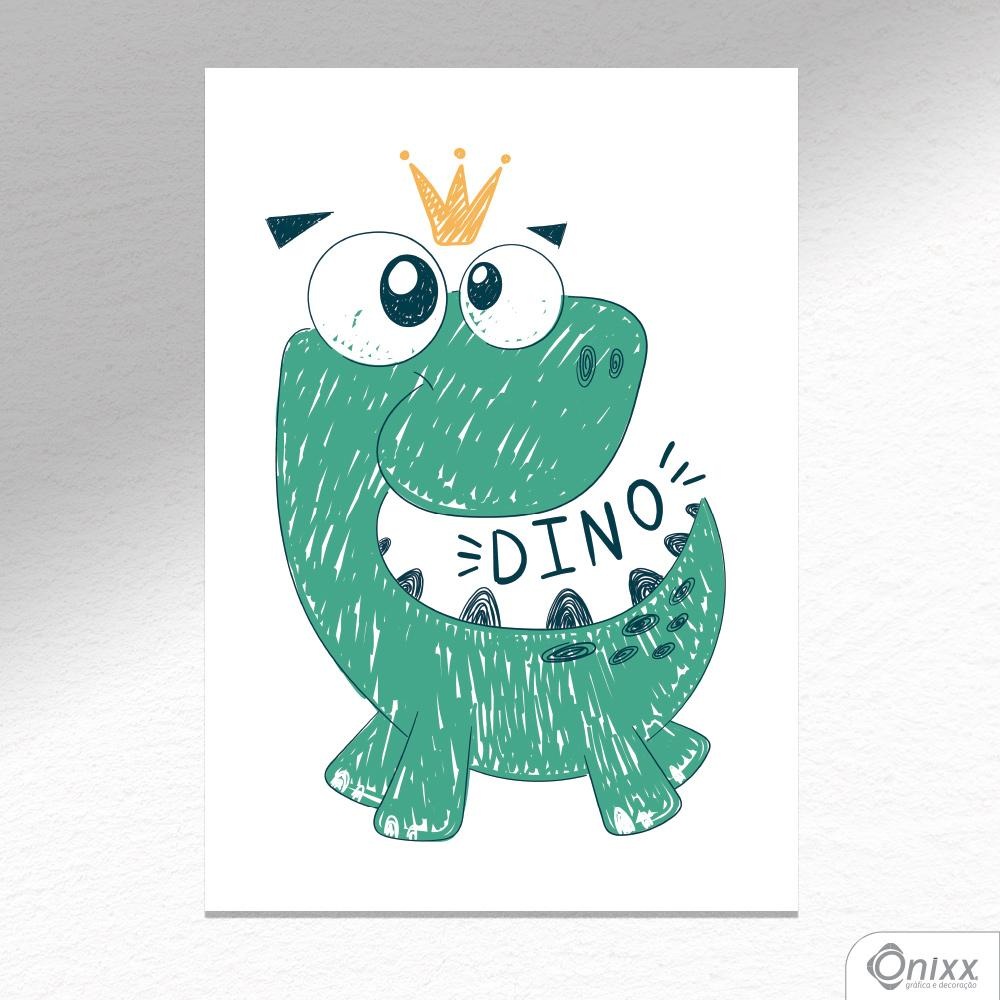 Placa Decorativa Dino Ilustrado A4