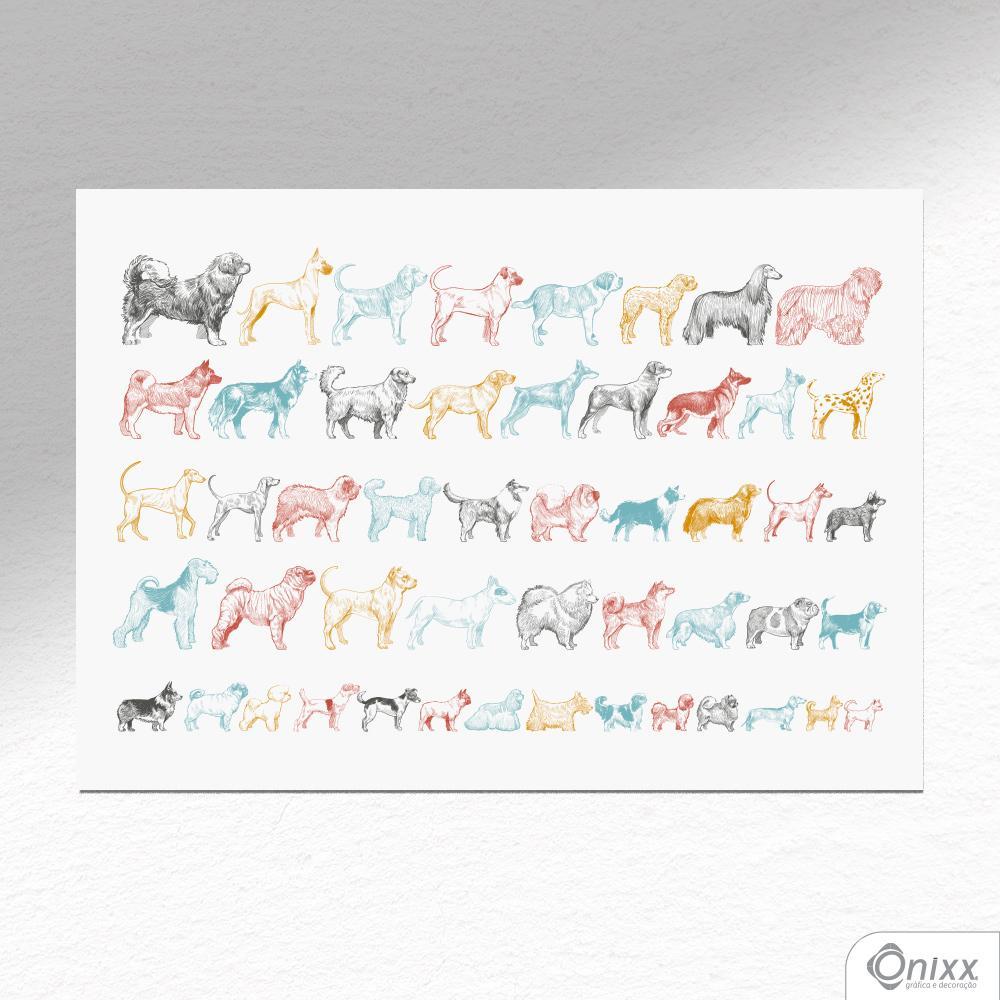 Placa Decorativa Dog Lover A4
