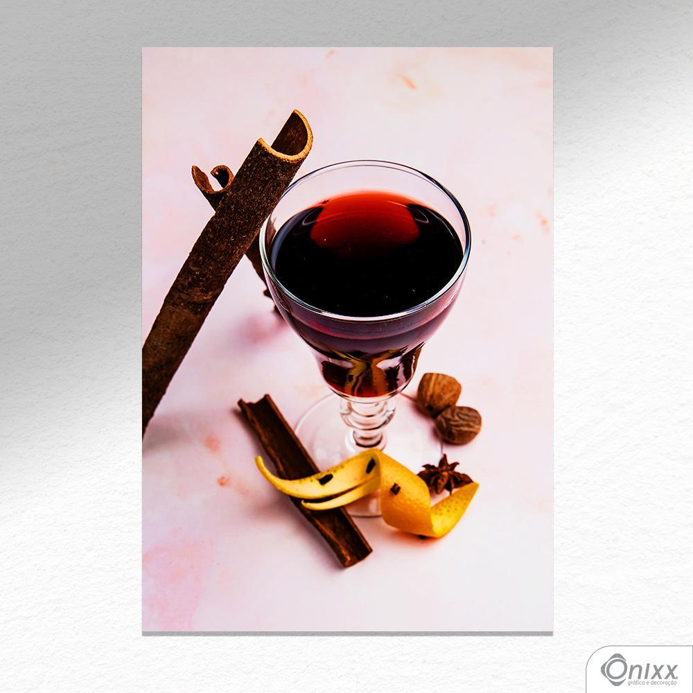 Placa Decorativa Drink Com Canela A4