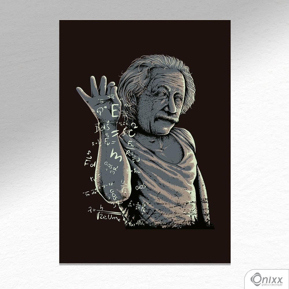 Placa Decorativa Einstein Bae A4