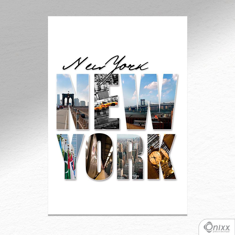 Placa Decorativa Flashs New York A4