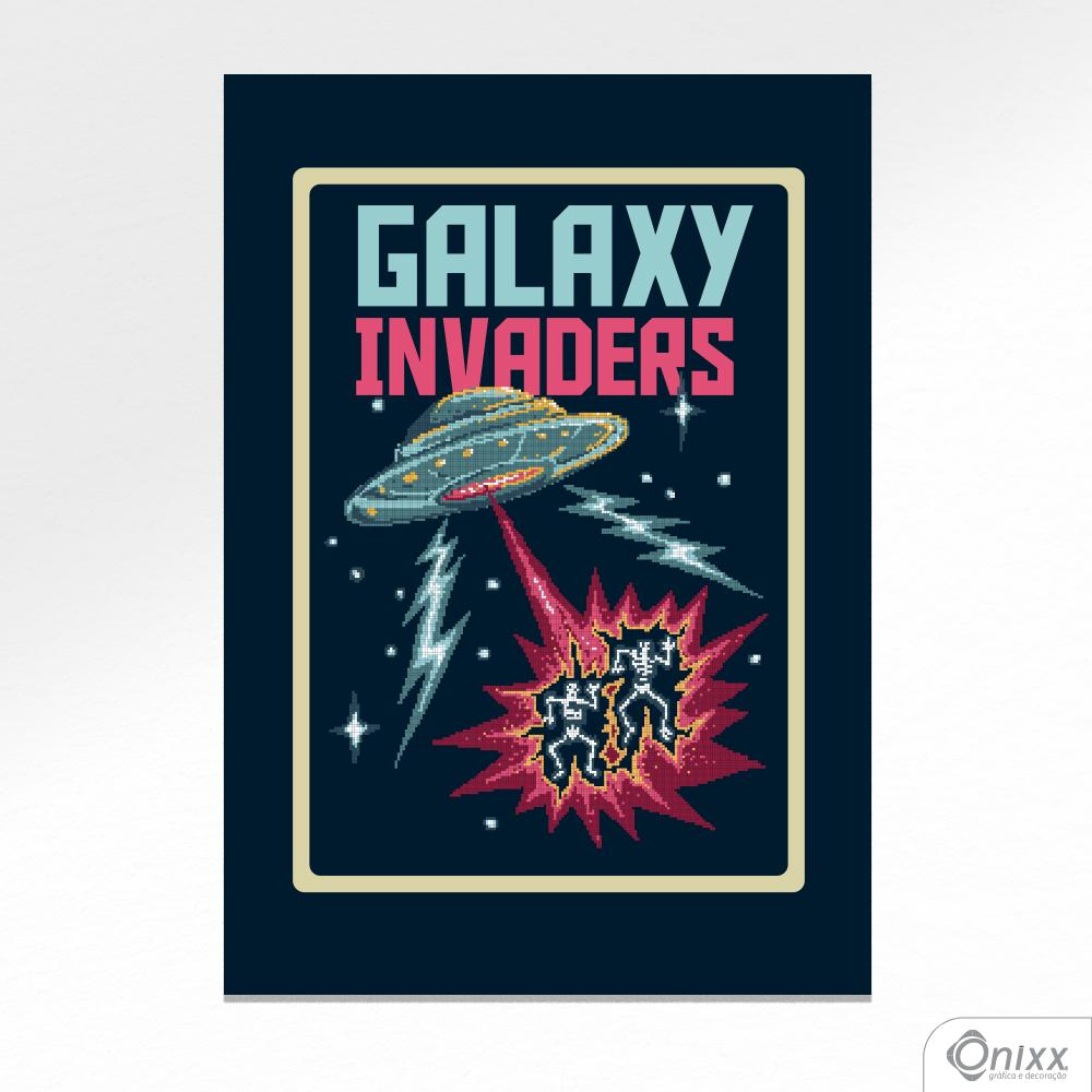 Placa Decorativa Galaxy Invaders A4