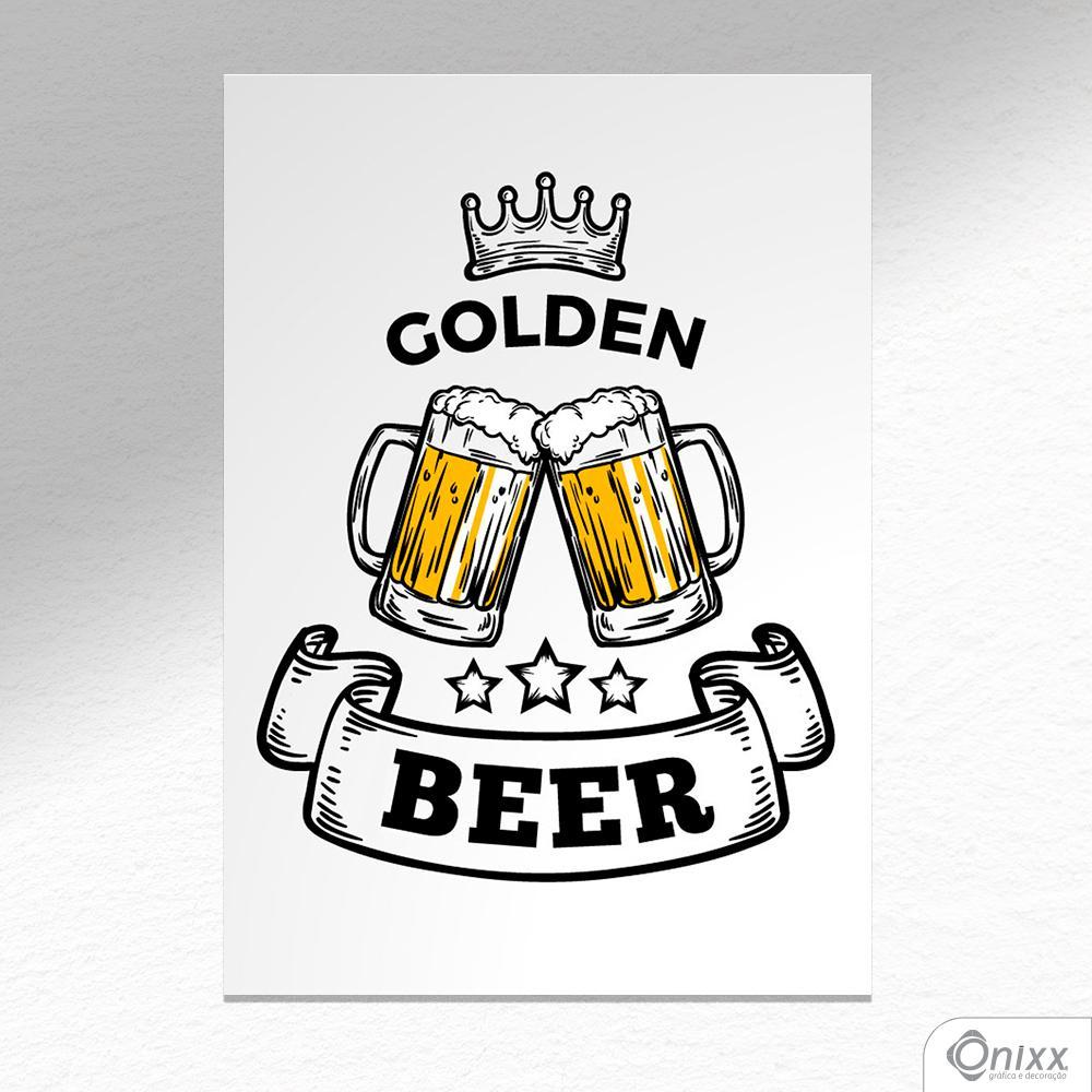 Placa Decorativa Golden Beer A4
