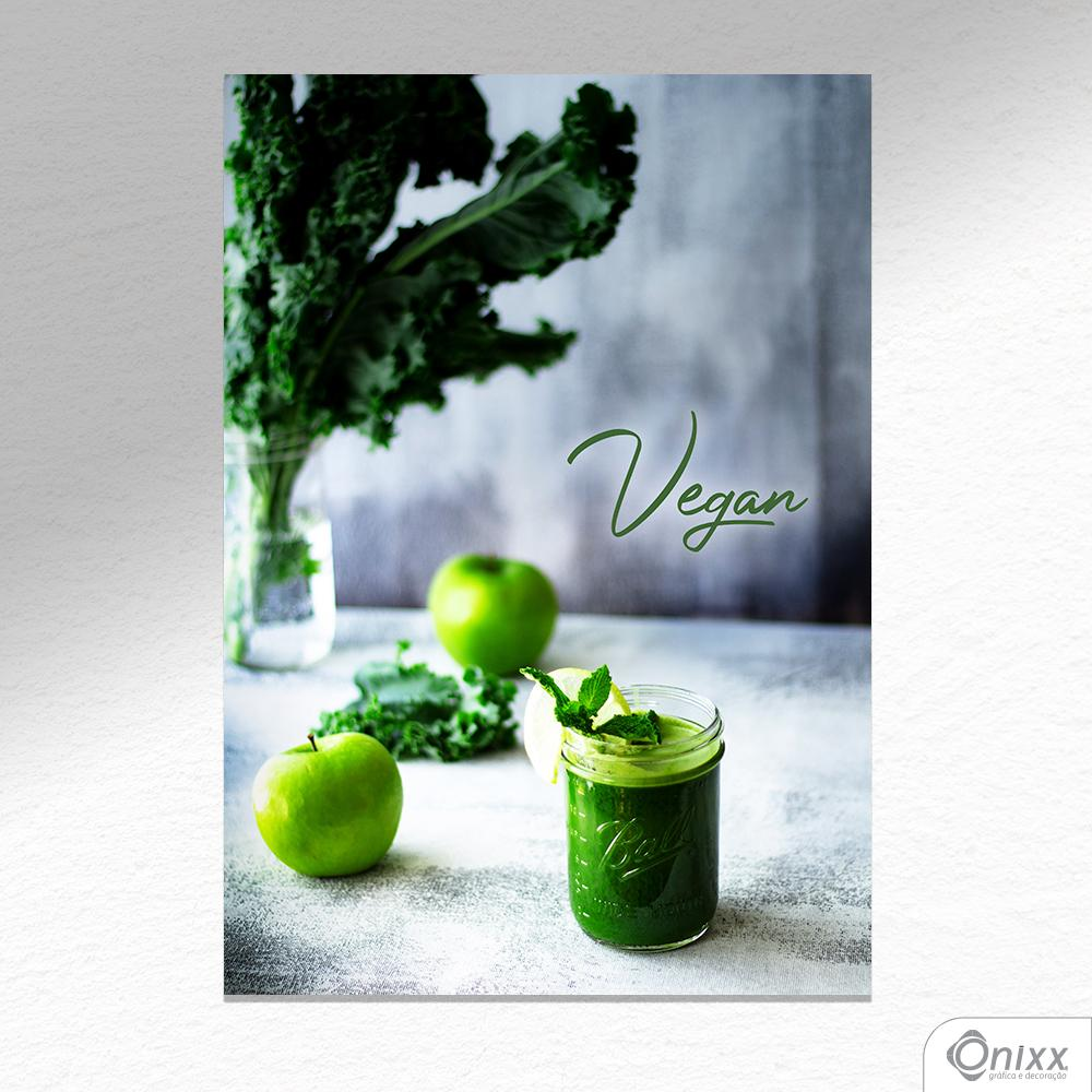 Placa Decorativa Green Food A4