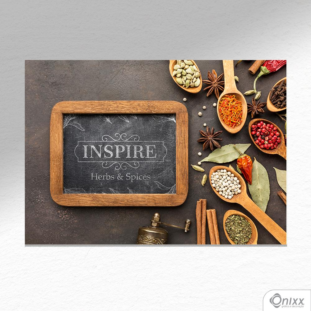 Placa Decorativa Série Inspire Spices A4