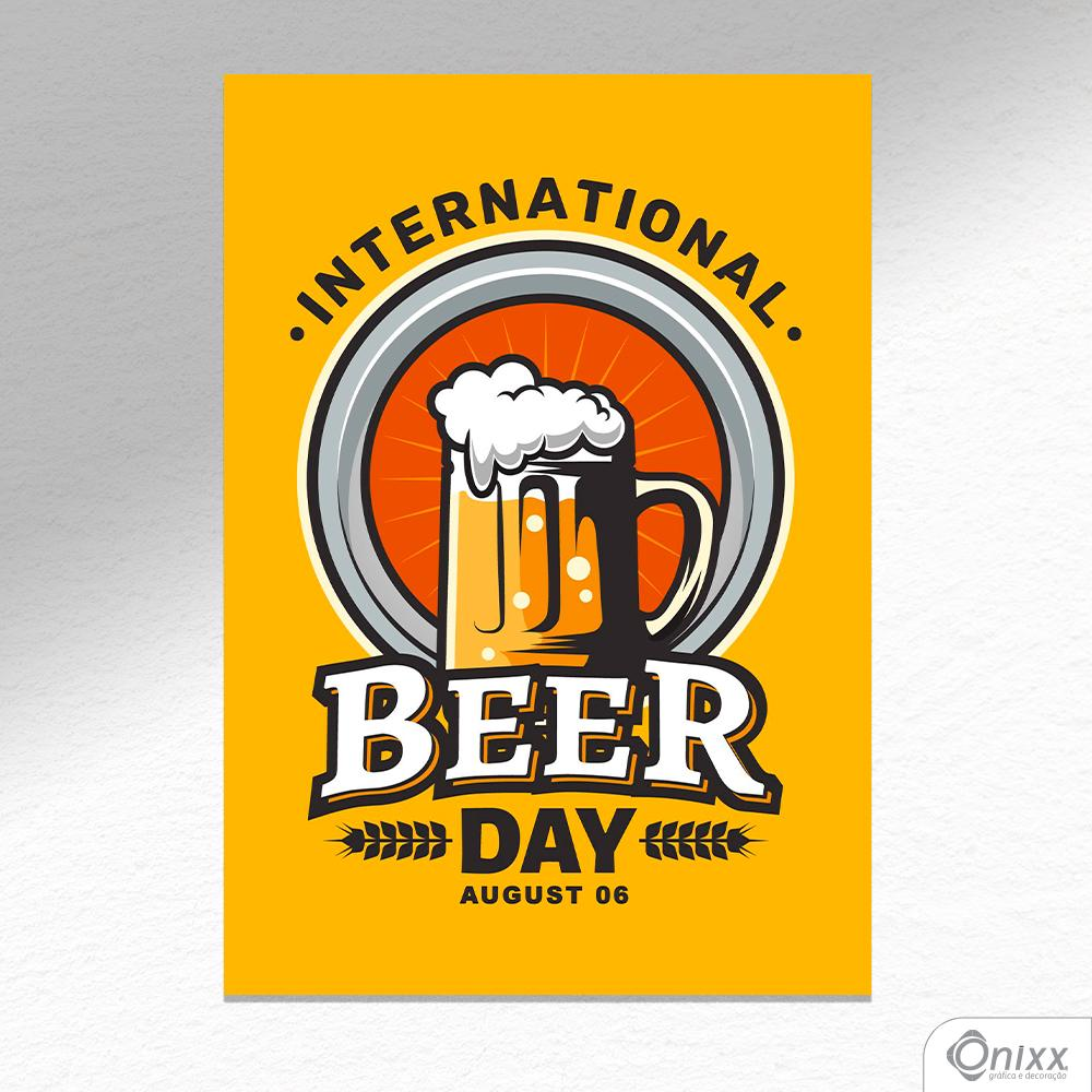 Placa Decorativa International Beer Day A4