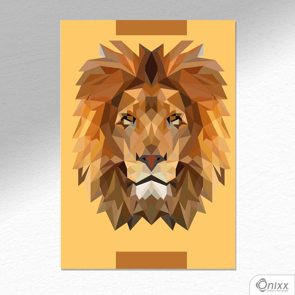 Placa Decorativa Lion A4