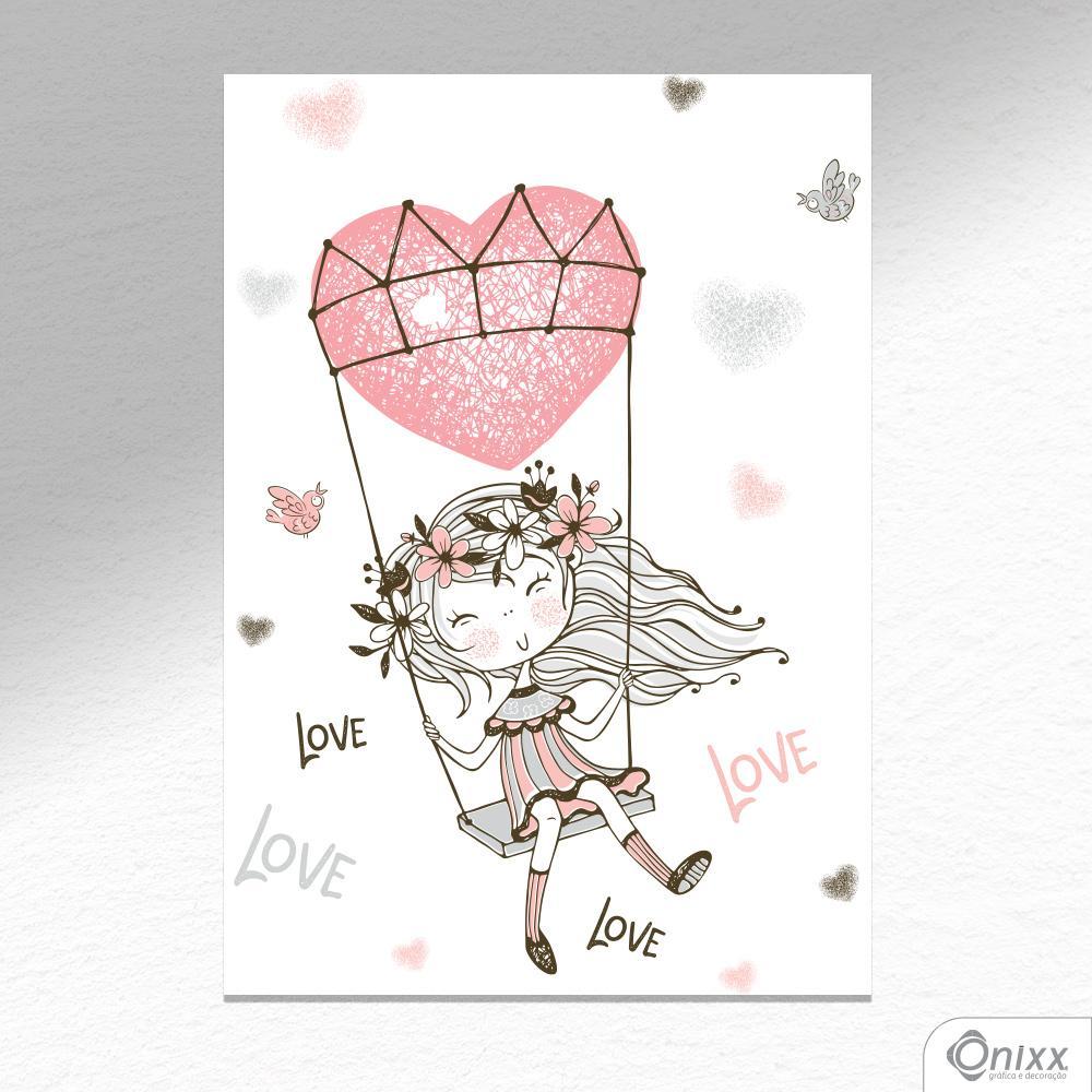 Placa Decorativa Love A4