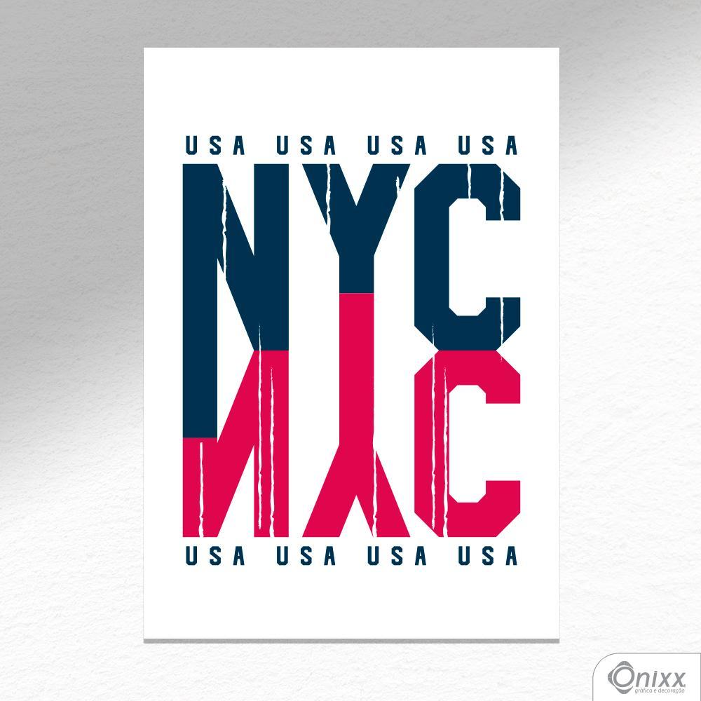 Placa Decorativa NYC A4