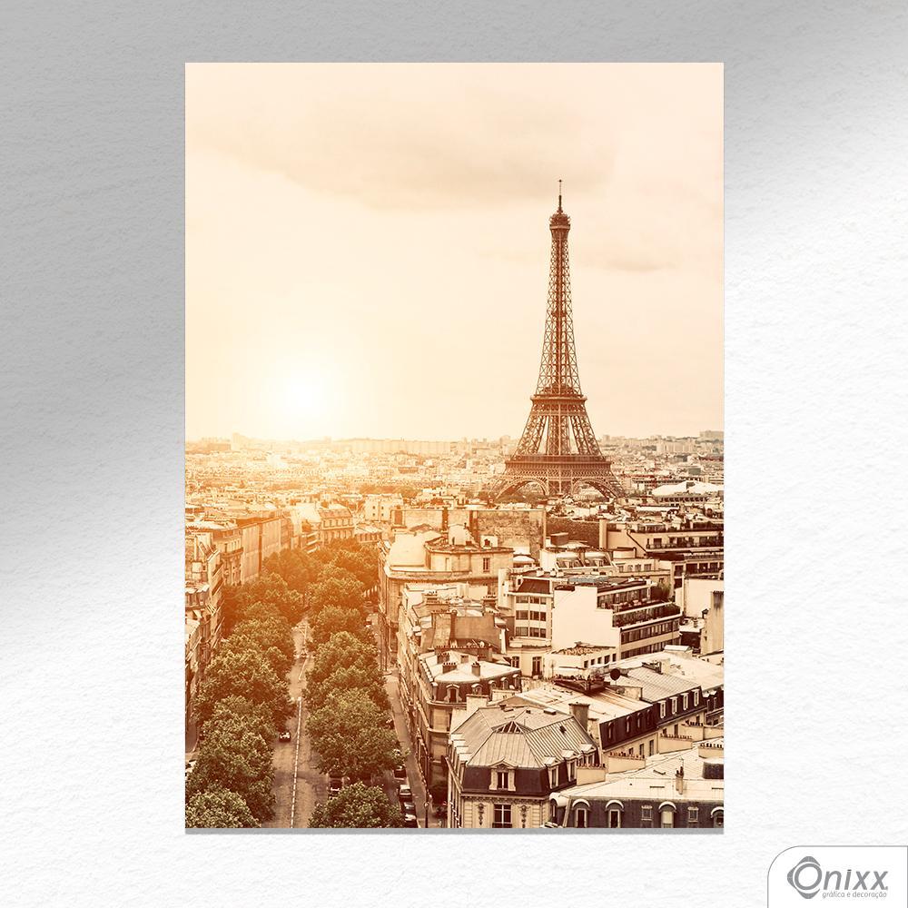 Placa Decorativa Paris Em Sépia A4