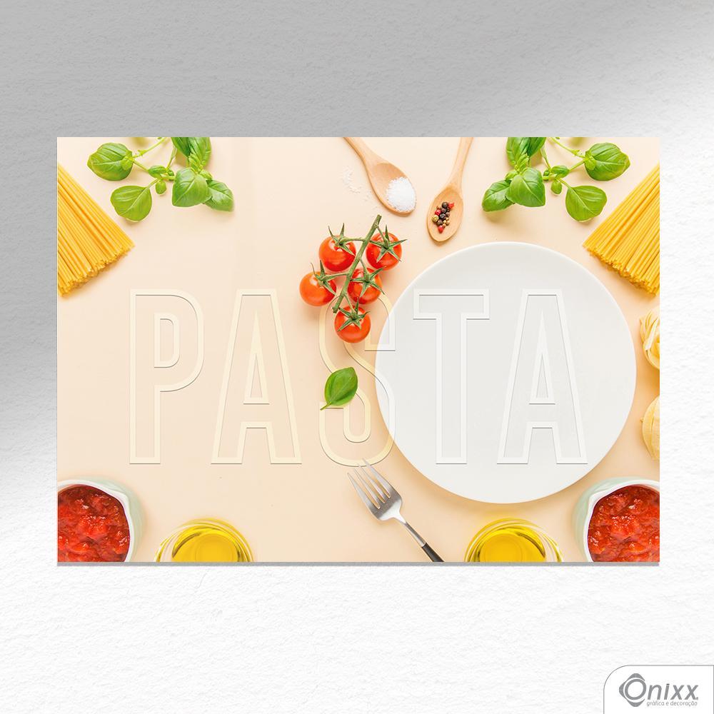 Placa Decorativa Pasta A4
