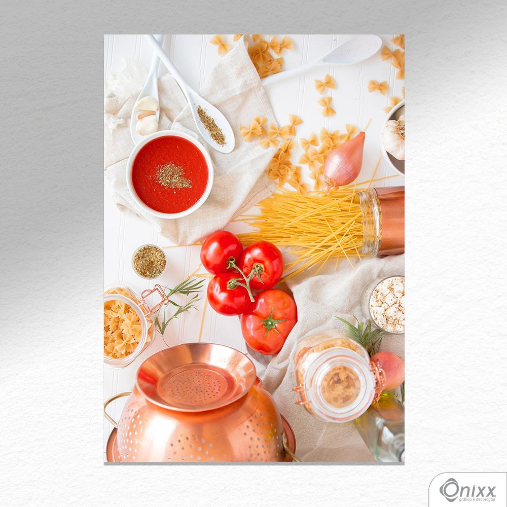 Placa Decorativa Pasta & Tomato A4