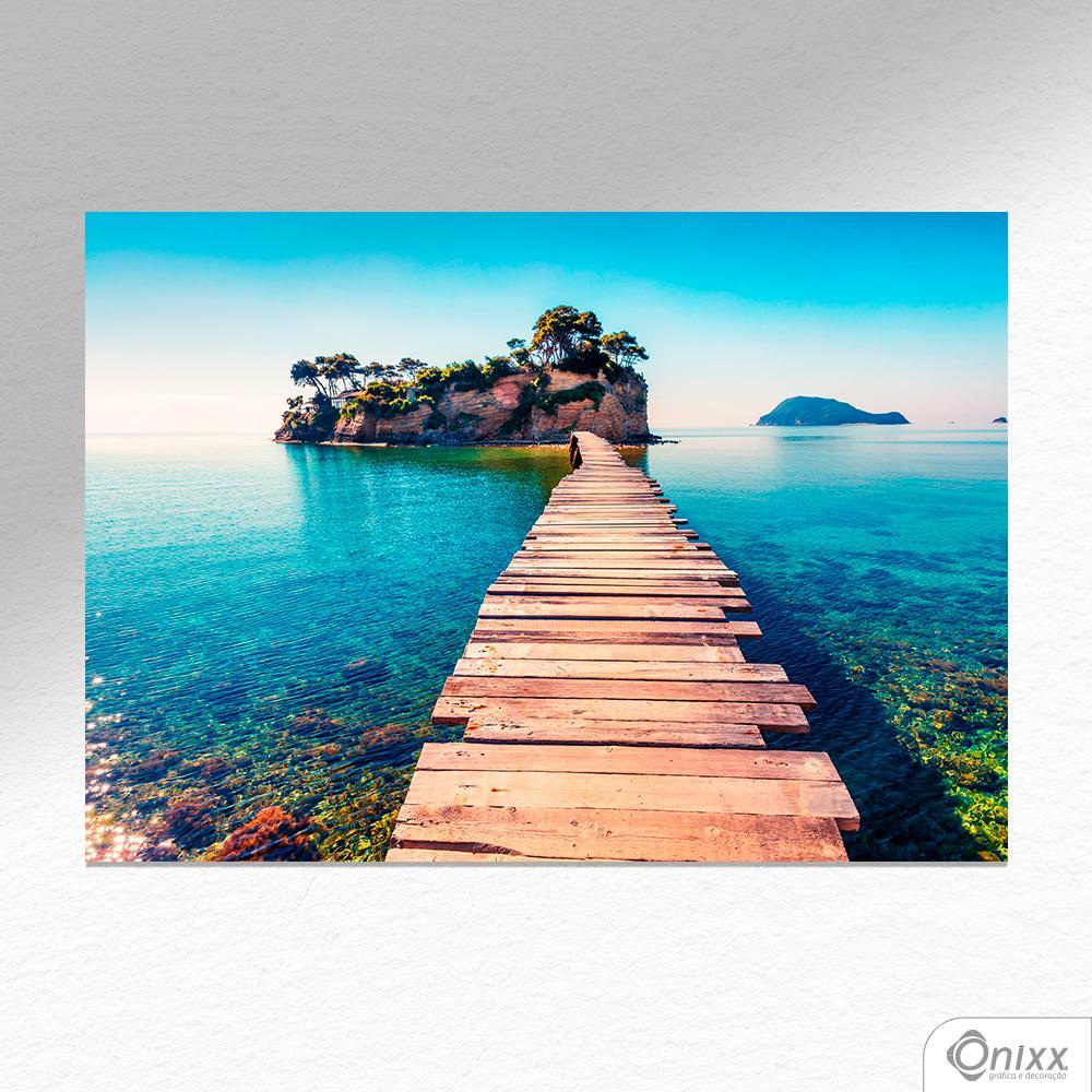 Placa Decorativa Ponte Sobre O Paraíso A4