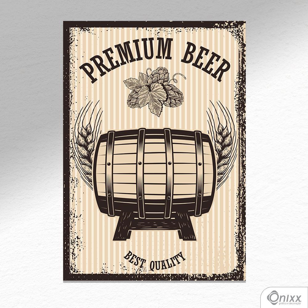 Placa Decorativa Premium Beer A4