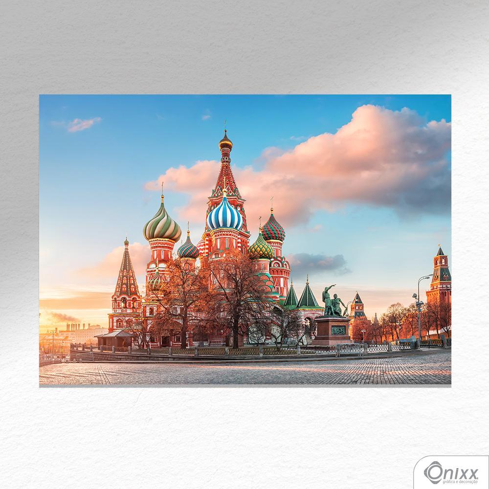 Placa Decorativa Red Square A4