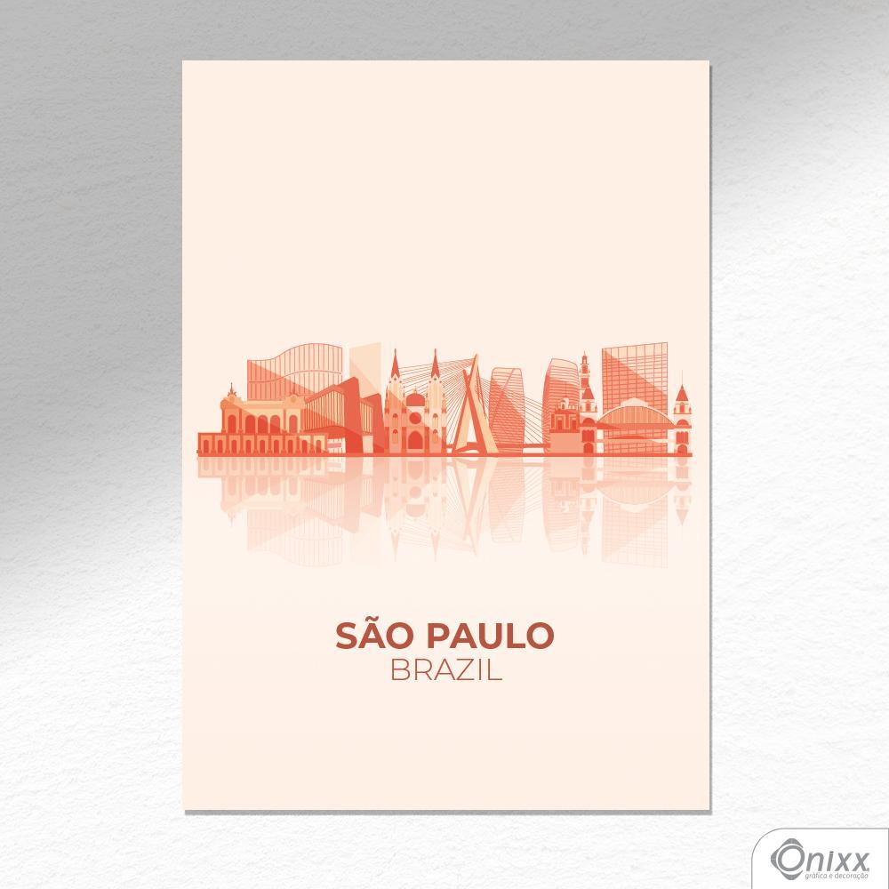 Placa Decorativa São Paulo A4