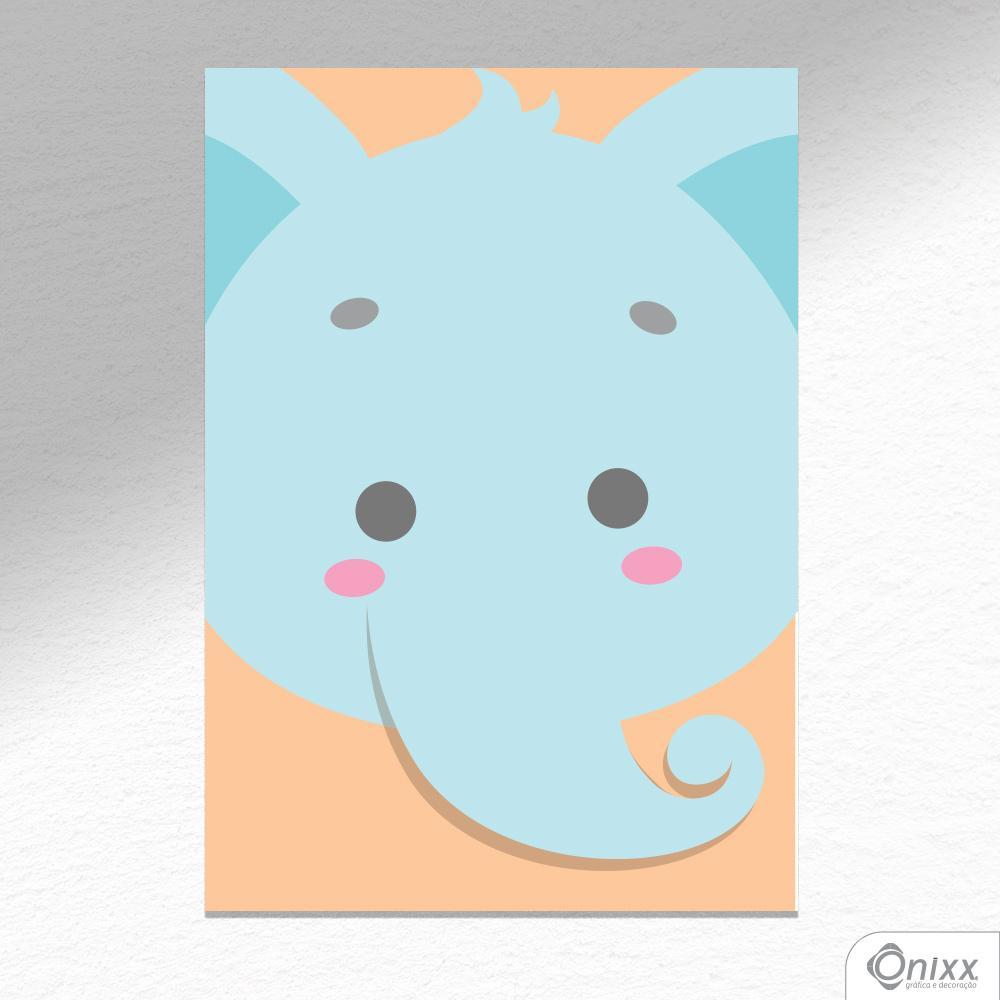 Placa Decorativa Série Animais Em Destaque ( Elefantinho ) A4