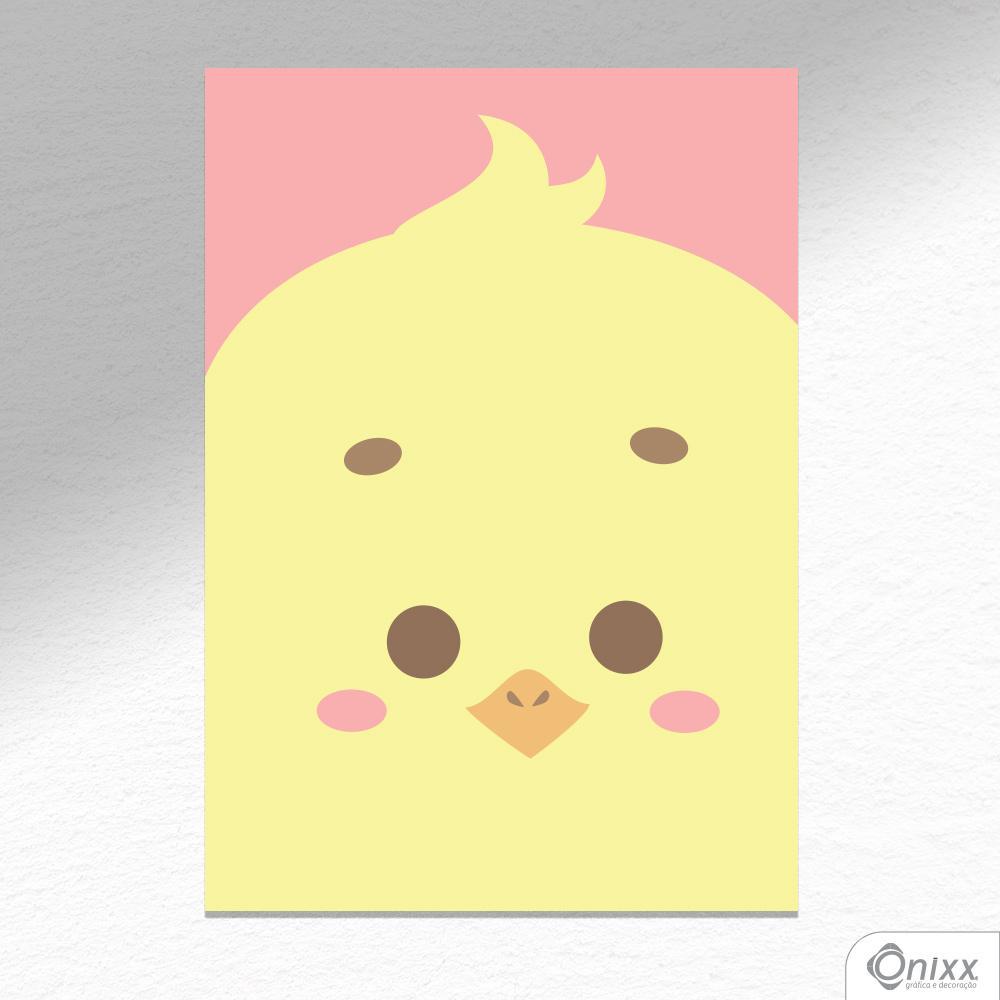 Placa Decorativa Série Animais Em Destaque ( Pintinho ) A4