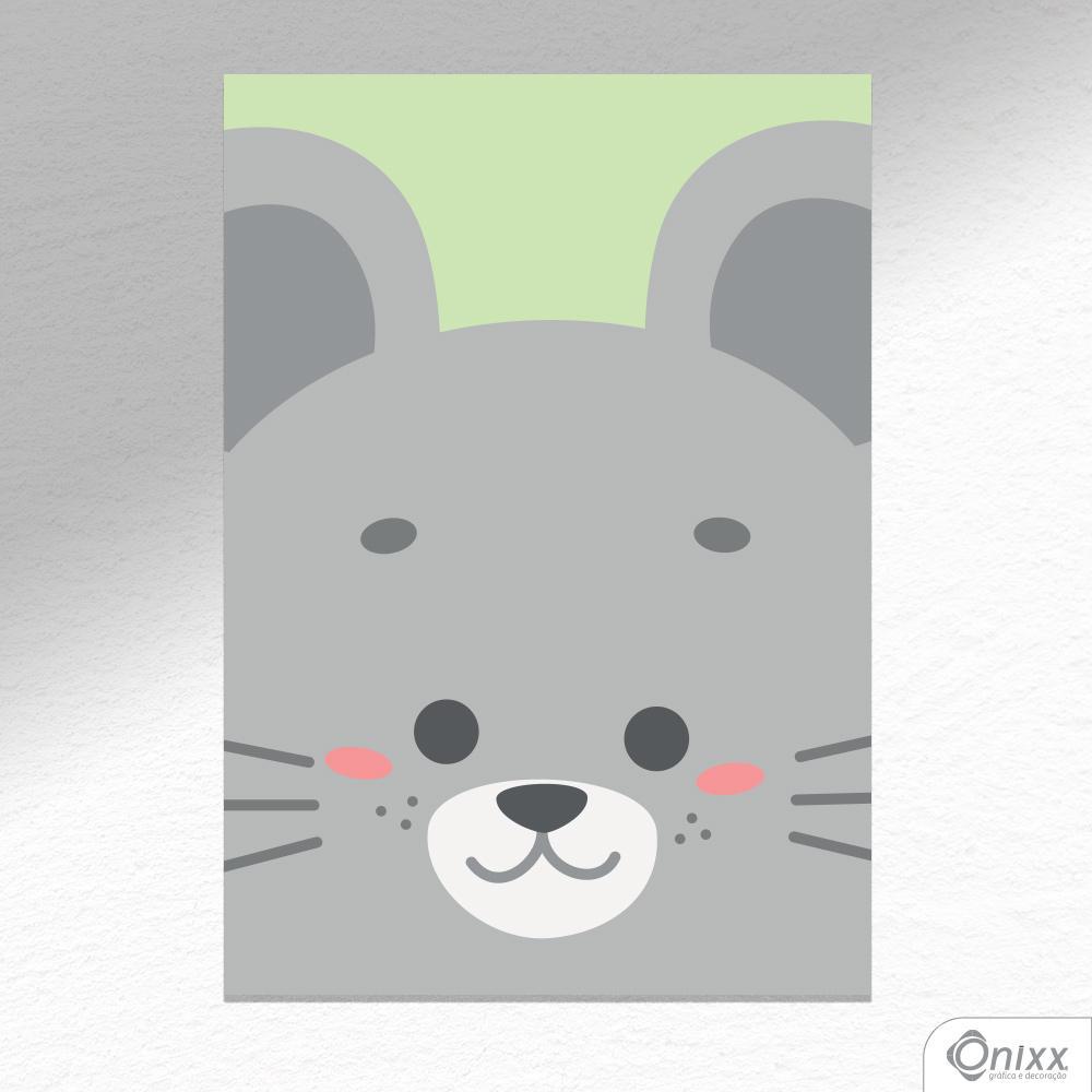Placa Decorativa Série Animais Em Destaque ( Ratinho ) A4