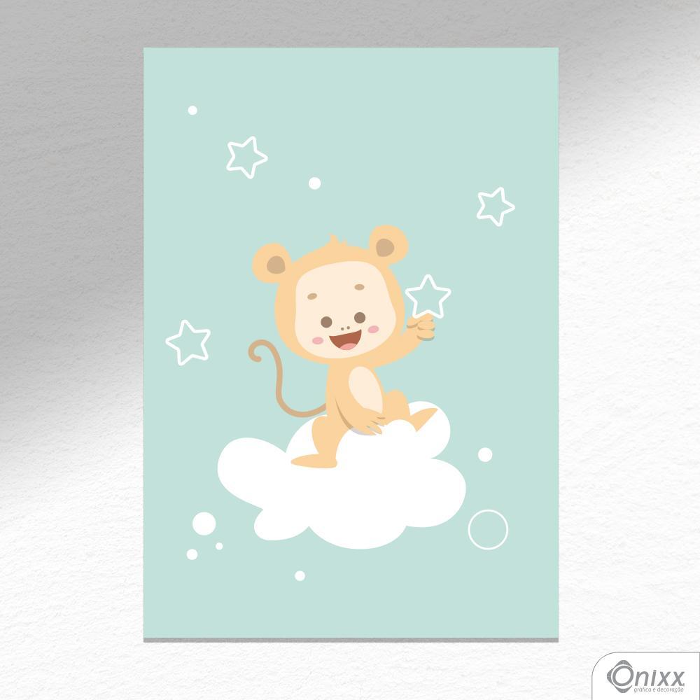 Placa Decorativa Série Animais Legais ( Macaco ) A4
