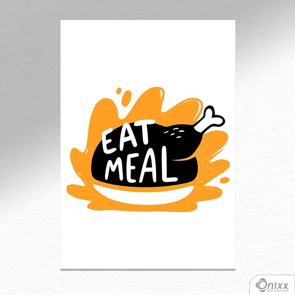 Placa Decorativa Série Cooking Colors ( Eat Meal ) A4