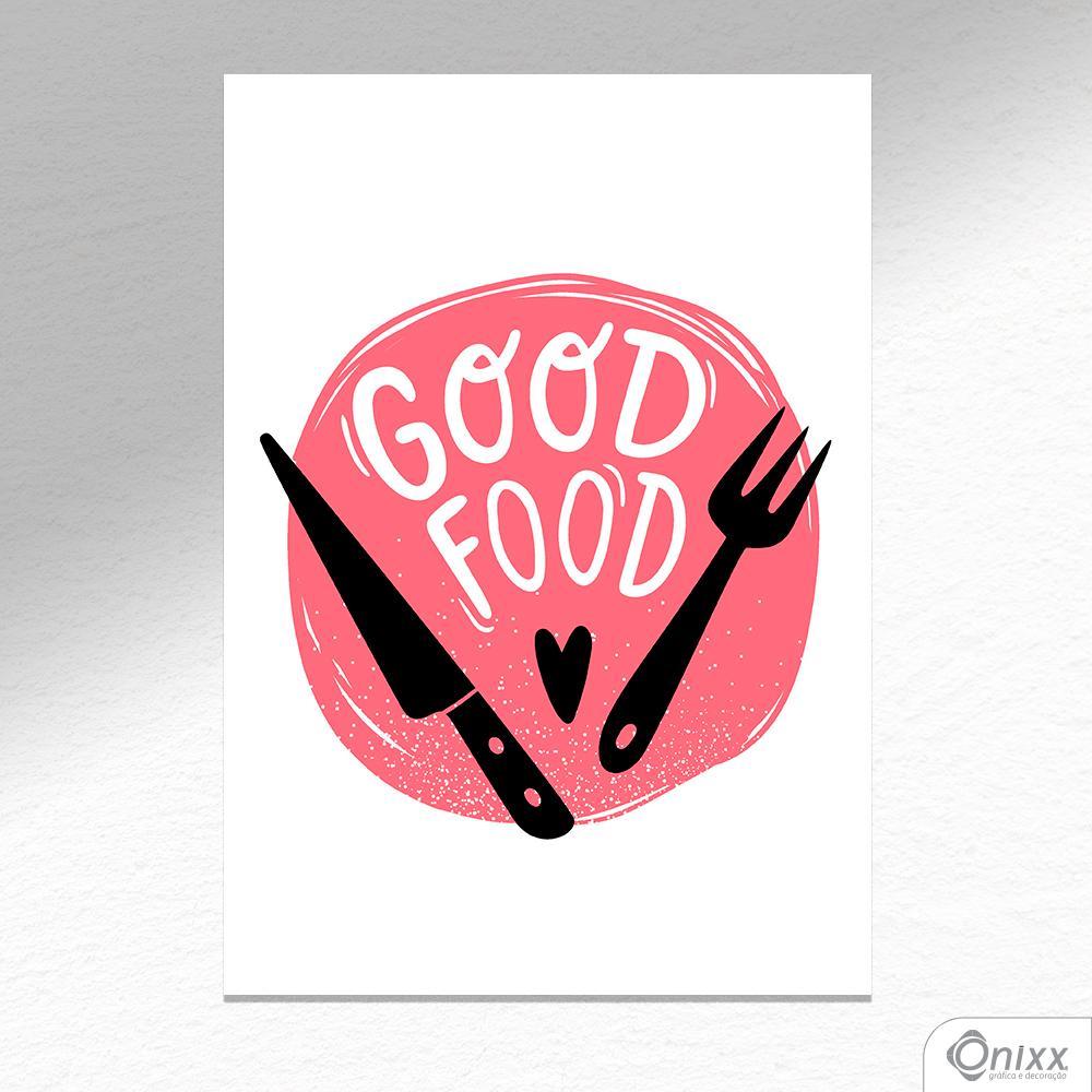 Placa Decorativa Série Cooking Colors ( Good Food ) A4