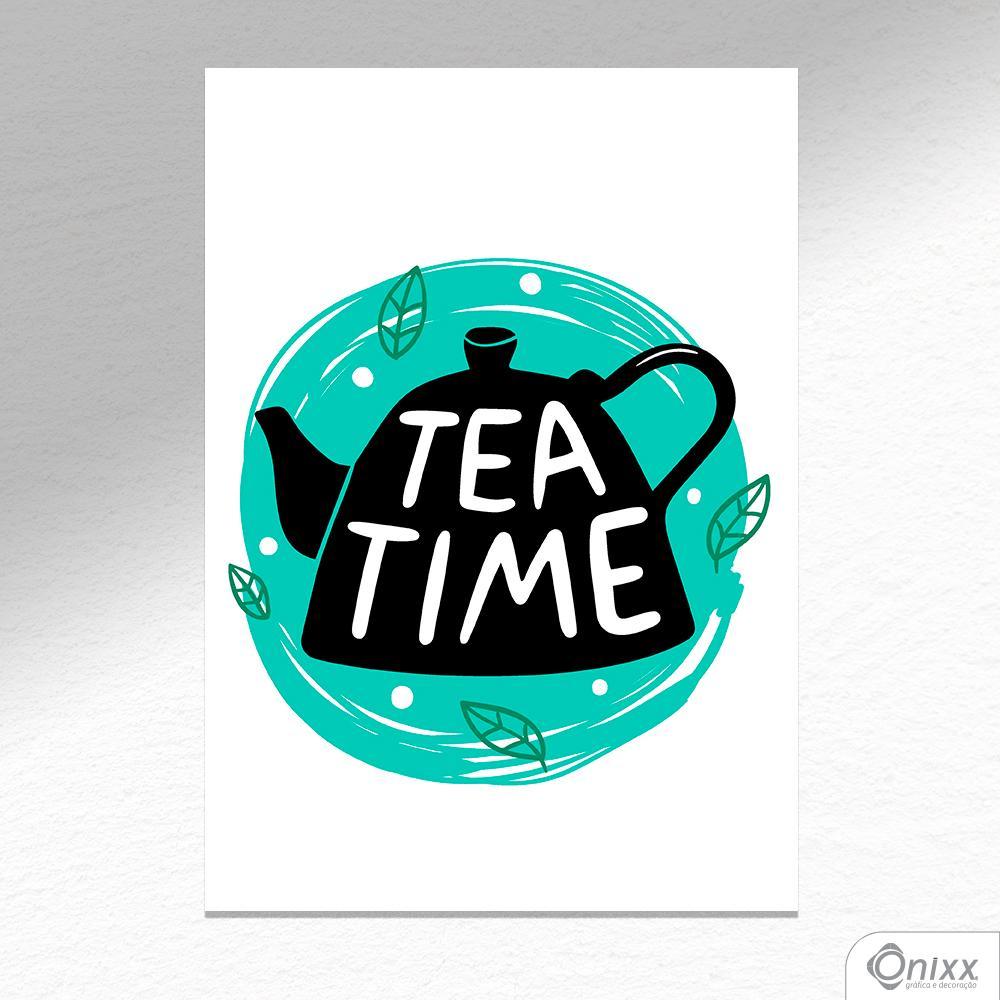 Placa Decorativa Série Cooking Colors ( Tea Time ) A4