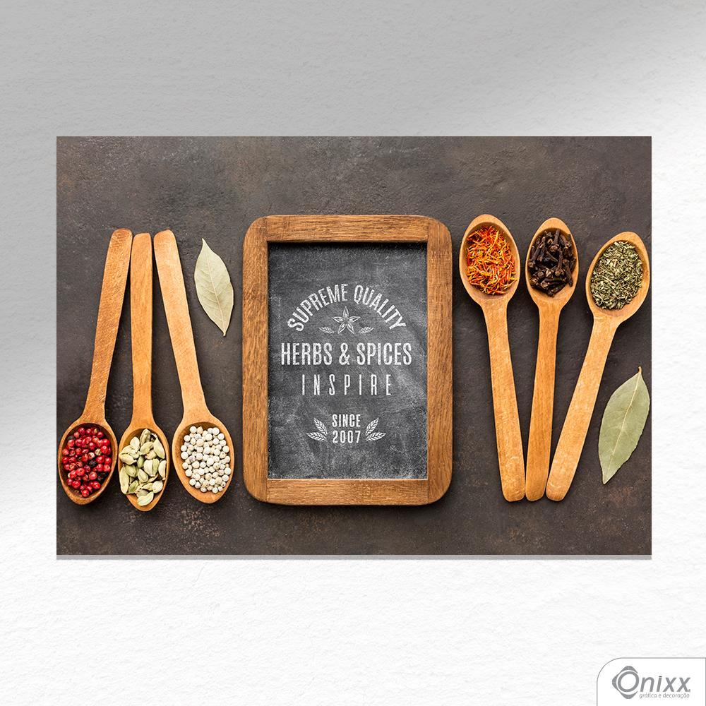 Placa Decorativa Série Inspire Supreme Spices A4