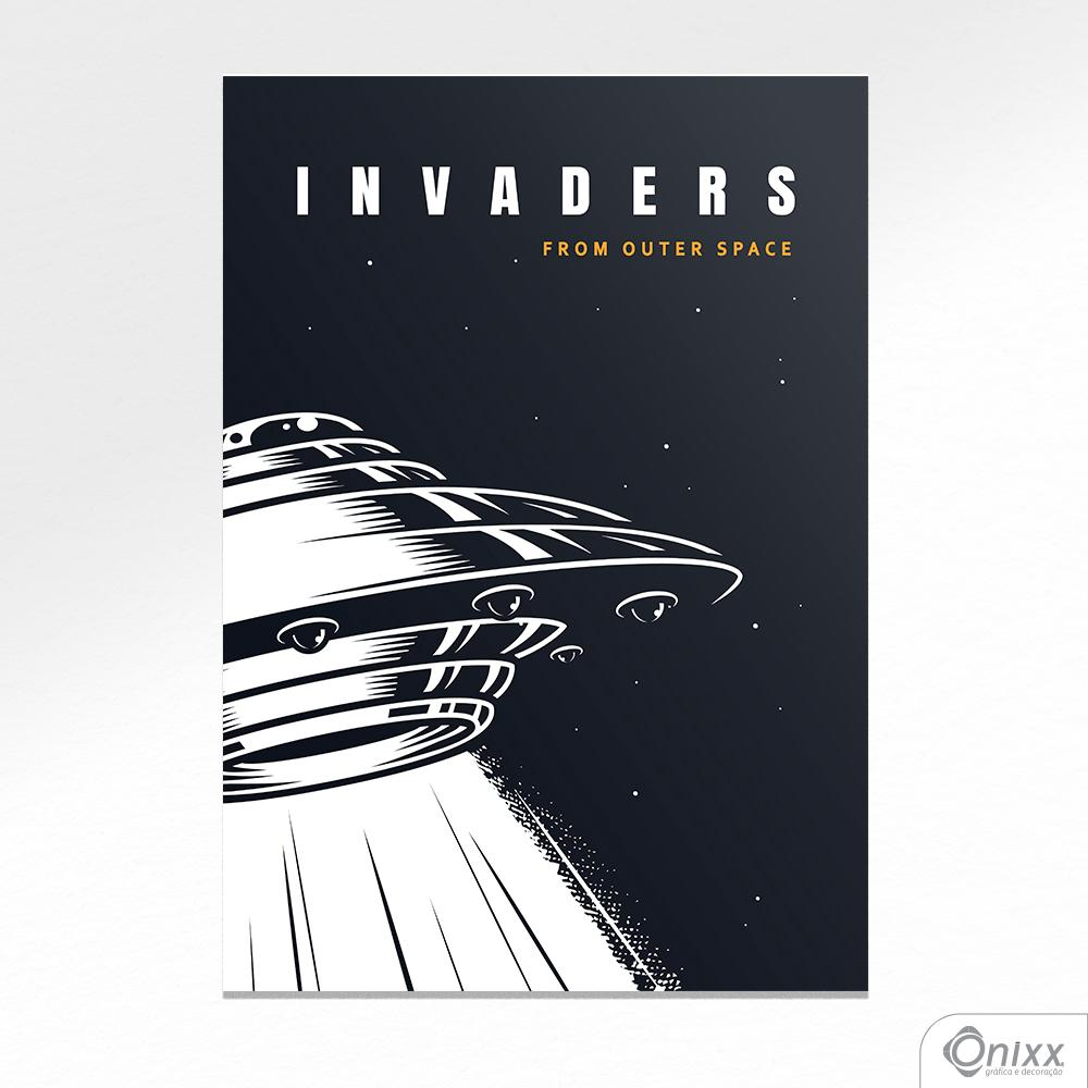 Placa Decorativa Série Lost In Space ( Invaders ) A4